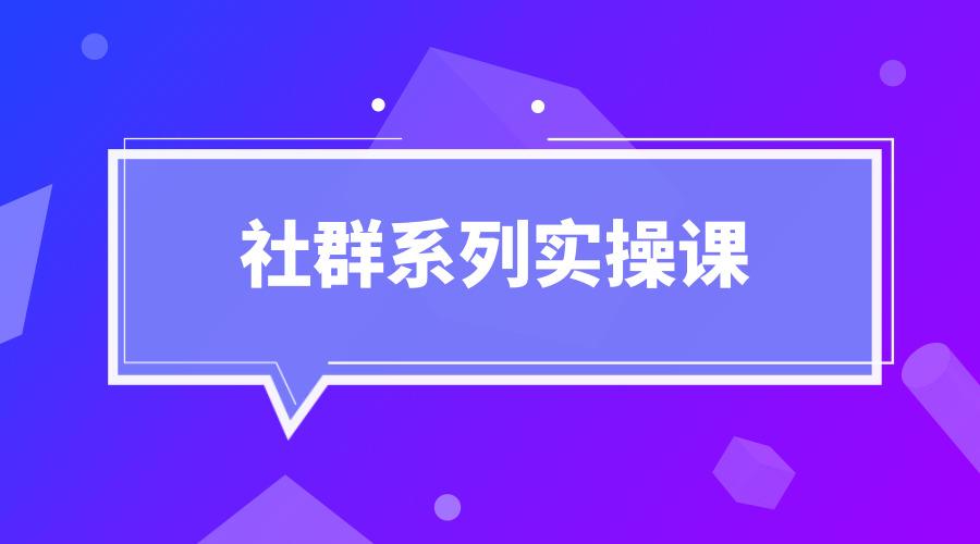 《社群系列实操课》